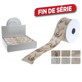 Ruban ivoire et doré 270 x 4 cm