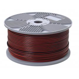 Câble audio 2 x 0,75 mm² au mètre - Rouge/noir
