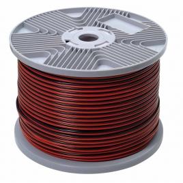 Câble audio 2 x 1,5 mm² rouge et noir au mètre