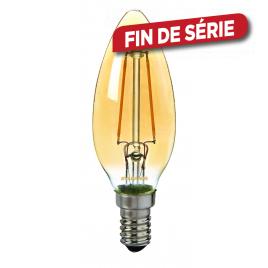Ampoule flamme fumée retro LED E14 2,3 W 200 lm blanc chaud SYLVANIA