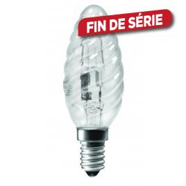 Ampoule flamme torsadée halogène E14 42 W 625 lm blanc chaud SYLVANIA