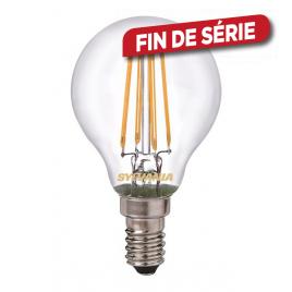 Ampoule boule Rétro 4 filaments LED E14 blanc chaud SYLVANIA - 250 lm