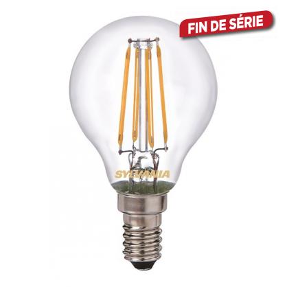ampoule boule r tro 4 filaments led e14 blanc chaud sylvania. Black Bedroom Furniture Sets. Home Design Ideas