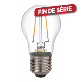 Ampoule classique Rétro 2 filaments LED E27 blanc chaud SYLVANIA - 420 lm