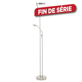 Lampadaire d'intérieur Sarrione LED 17,2 W avec liseuse 2,88 W EGLO - Nickel