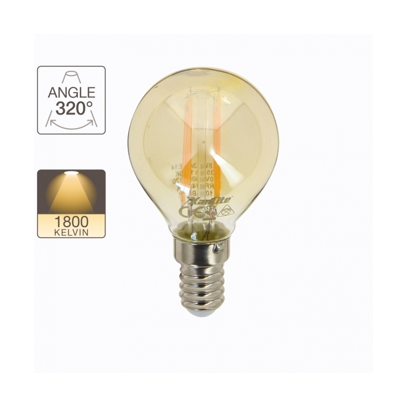ampoule globe r tro led e14 3 8 w 350 lm xanlite. Black Bedroom Furniture Sets. Home Design Ideas