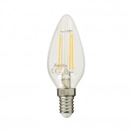 Ampoule flamme rétro 4 filaments LED E14 4 W 470 lm XANLITE - Blanc chaud