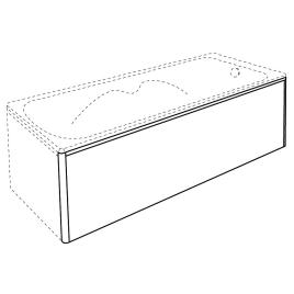 Panneau latéral Clip's ALLIBERT - 180 cm
