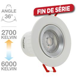 Spot encastrable LED 6,5 W 345 lm avec variateur de température de couleur XANLITE