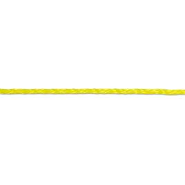 Drisse tresséee en polypropylène 4 mm au mètre CHAPUIS - Jaune