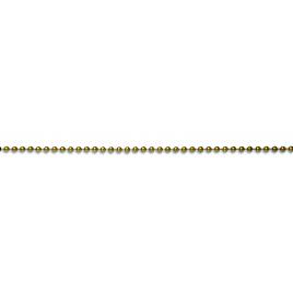 Chaine non soudée boule en laiton 3,2 mm au mètre CHAPUIS - Poli