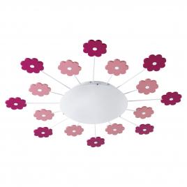 Plafonnier pour enfant Viki 1 E27 60 W EGLO - Fleur rose