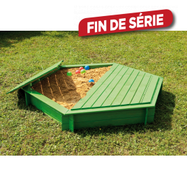 Bac à sable hexagonal diamètre 180 x 25 cm