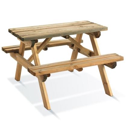 Table pique-nique pour enfants 90 x 90 cm