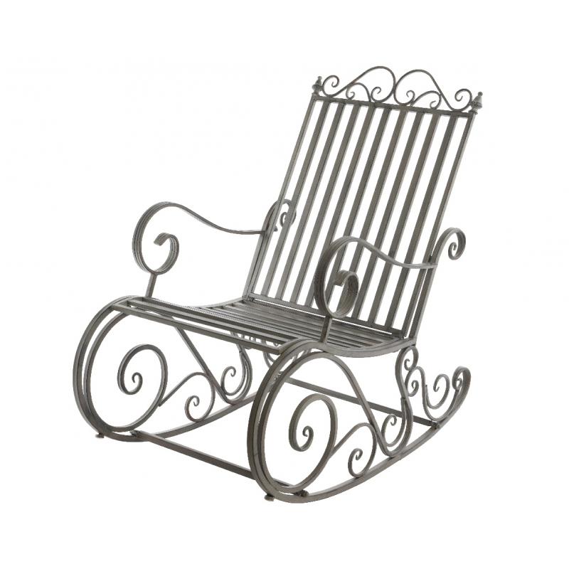 rocking chair en m tal 56 x 90 cm. Black Bedroom Furniture Sets. Home Design Ideas