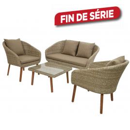 Salon Geneva : 3 fauteuils et 1 table