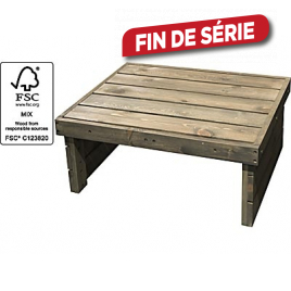 Table de jardin basse softwood 79 x 61 x 33 cm