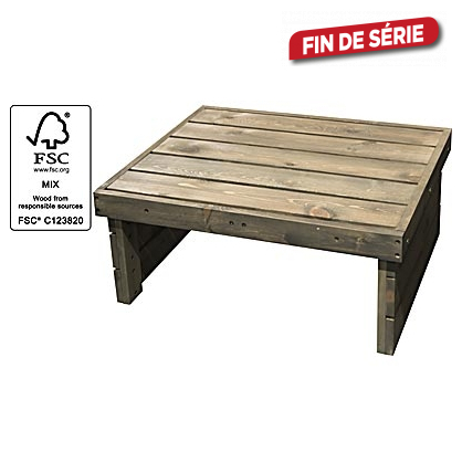 Table de jardin basse softwood 79 x 61 x 33 cm