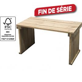Table en bois softwood 80 x 40 x 45 cm