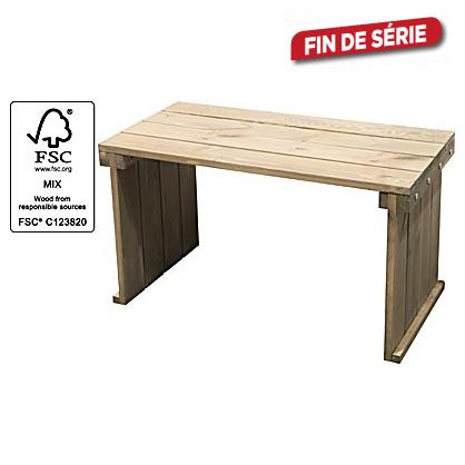 Table de jardin en bois softwood 80 x 40 x 45 cm - Table de jardin metal mr bricolage ...