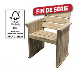 Banc bois softwood avec dossier - 90 cm