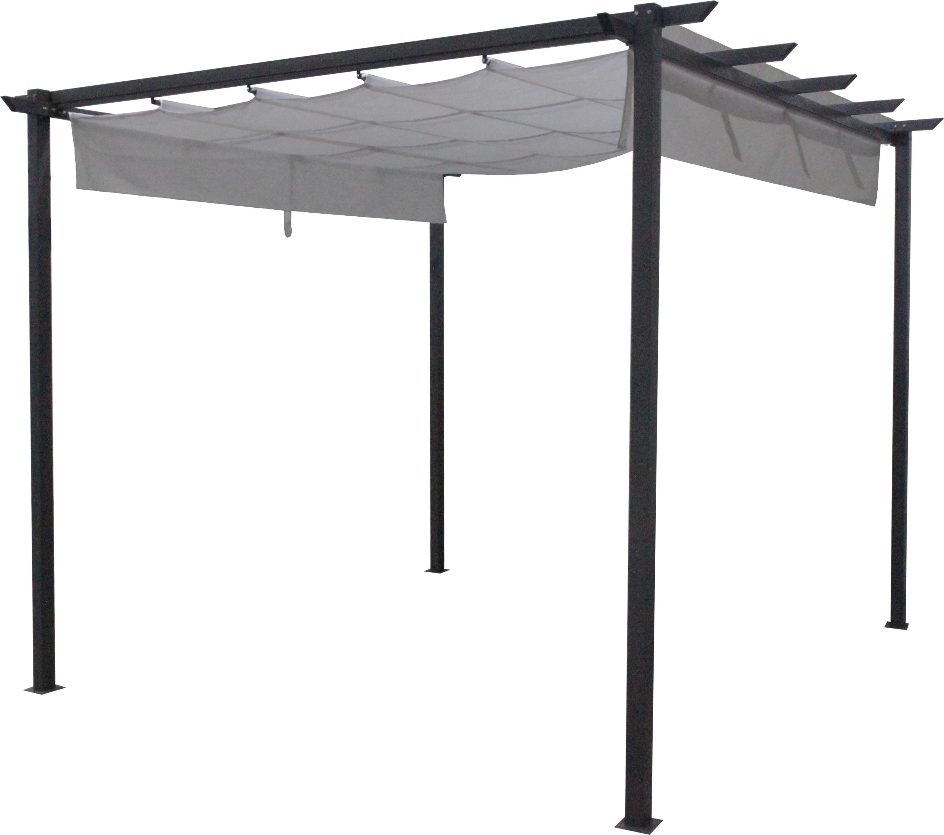 Lampe Exterieur Pour Tonnelle tonnelle avec voile 3 x 3 x 2,3 m - mr.bricolage
