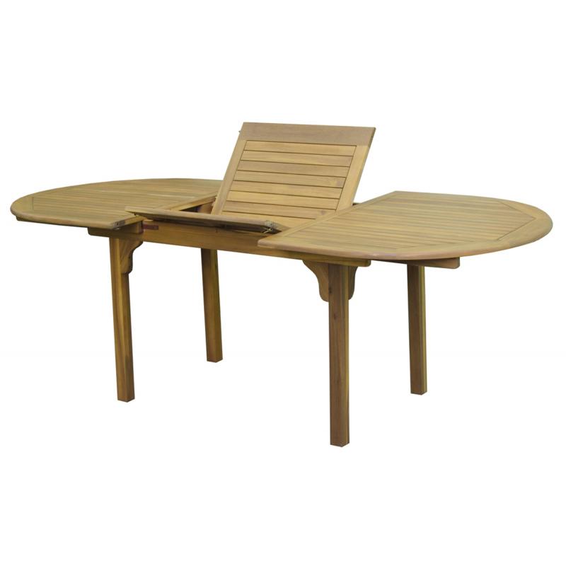 Table de jardin Junon 160 - 220 x 100 x 75 cm - Mr.Bricolage