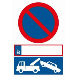 Pictogramme interdiction de stationner