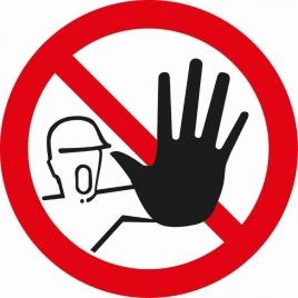Pictogramme interdit aux personnes non autorisées 15 cm