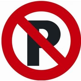 Plaque interdiction de stationner 18 cm