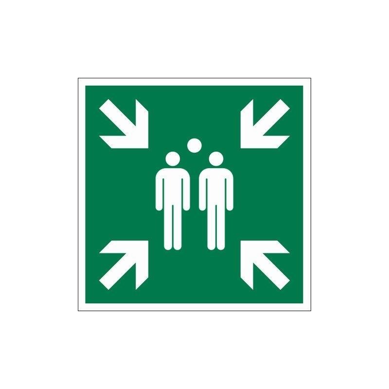 pictogramme point de rassemblement