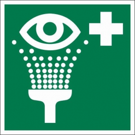 Pictogramme rinçage des yeux 15 x 15 cm