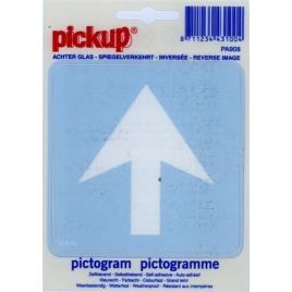 Pictogramme inversé sens obligatoire 10 x 10 cm