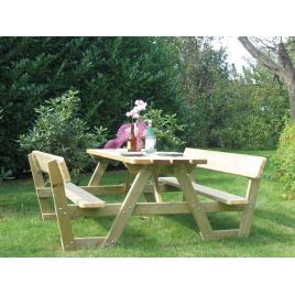 Table de pique-nique avec dossier 180 x 197 x 74 cm SOLID