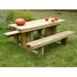 Table de pique-nique 180 x 159 x 73 cm