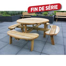 Table de pique-nique ronde 219,6 x 219,6 x 71,4 cm SOLID