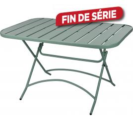 Table de jardin en métal pliante verte 120 x 80 x 71 cm