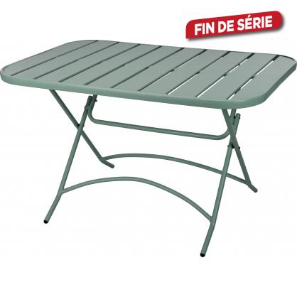 Table de jardin en métal pliante verte 120 x 80 x 71 cm - Mr.Bricolage