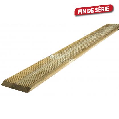Planche en bois biseauté 240 x 14,5 x 2,7 cm SOLID