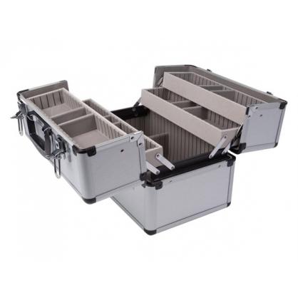 Valise en aluminium 36 x 22 x 25 cm PEREL