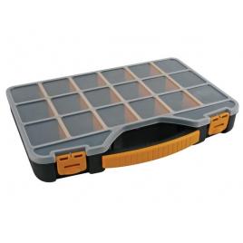 Boîte de rangement 18 compartiments PEREL - 32,6 x 25,7 x 4,8 cm
