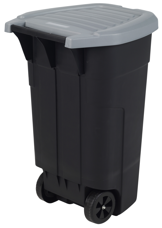 Poubelles Noires De Jardin poubelle d'extérieur 110 l noir allibert - mr.bricolage
