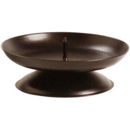 Bougeoir en forme de coupelle noir en métal