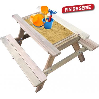 Table de pique-nique avec bac à sable SOLID