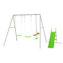 Portique en métal 5 enfants avec balançoires Raphael TRIGANO