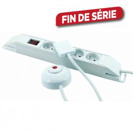 Multiprise 4 prises avec interrupteur et interrupteur à pied 1,5 m PROFILE
