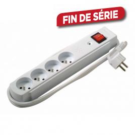 Multiprise 4 prises avec interrupteur et surtension PROFILE