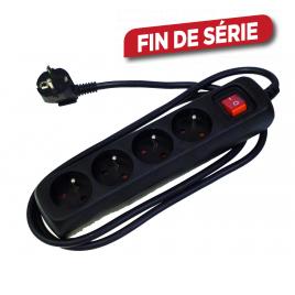 Multiprise 4 prises avec interrupteur promo Line noir PROFILE