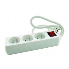 Multiprise avec interrupteur promo line Blanc PROFILE - 1 pièce - 3 prises