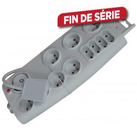 Multiprise 11 prises 1,5 m avec fiche plate et interrupteur PROFILE